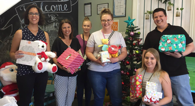 Donating over 300 Christmas gifts to the women and children who use Women's Legal Service QLD