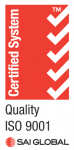 Certified System, Quality ISO 9001, Sai Global